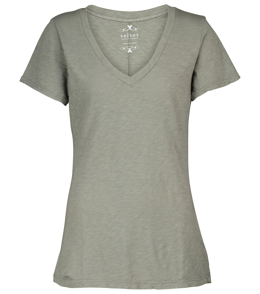 Velvet Lilith Cotton T-shirt In Green
