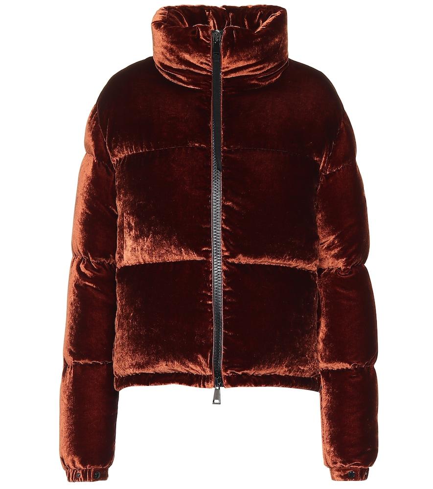 Rimac velvet puffer jacket