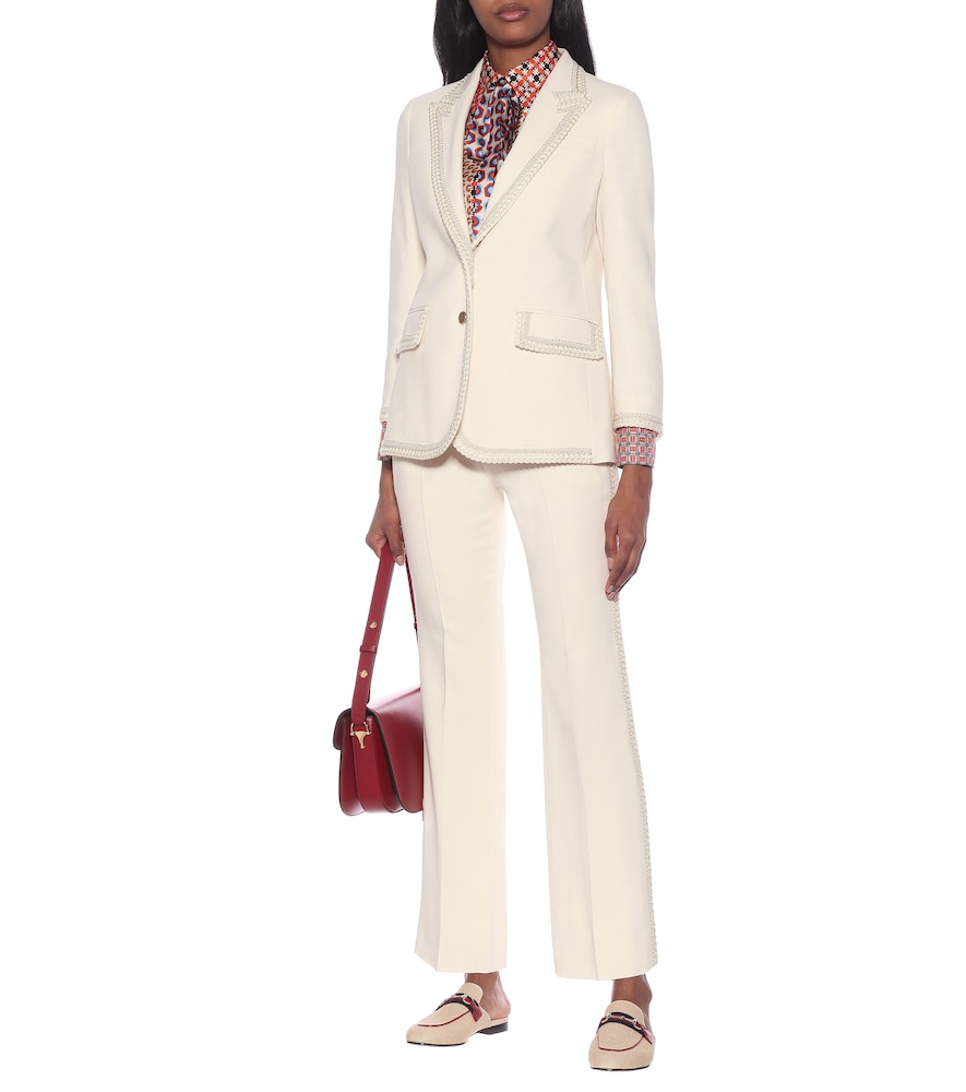 Embroidered cady blazer by Gucci