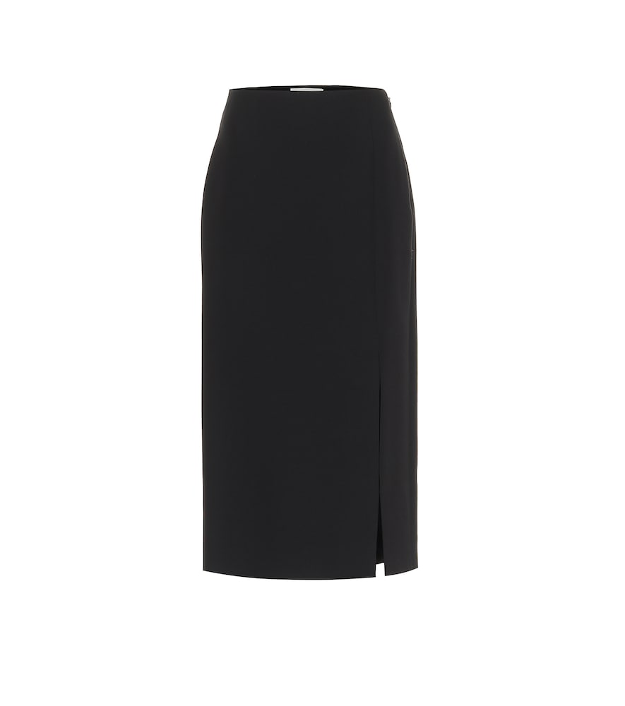 Valentino Wools WOOL AND SILK MIDI SKIRT