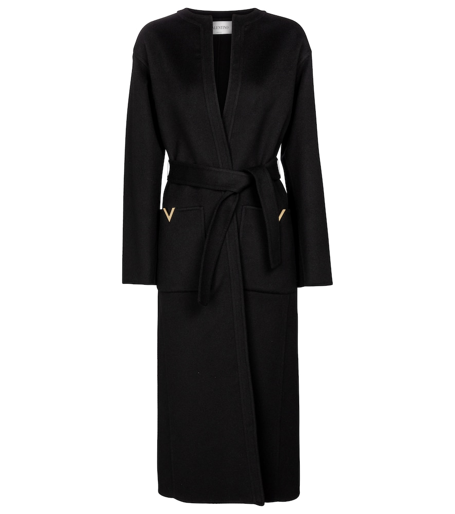 Valentino belted wool and cashmere coat