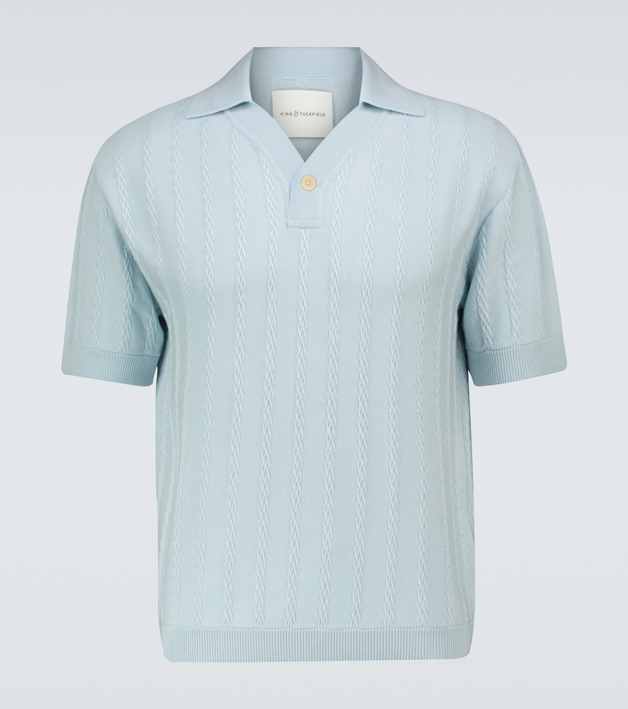 Merino short-sleeved polo shirt
