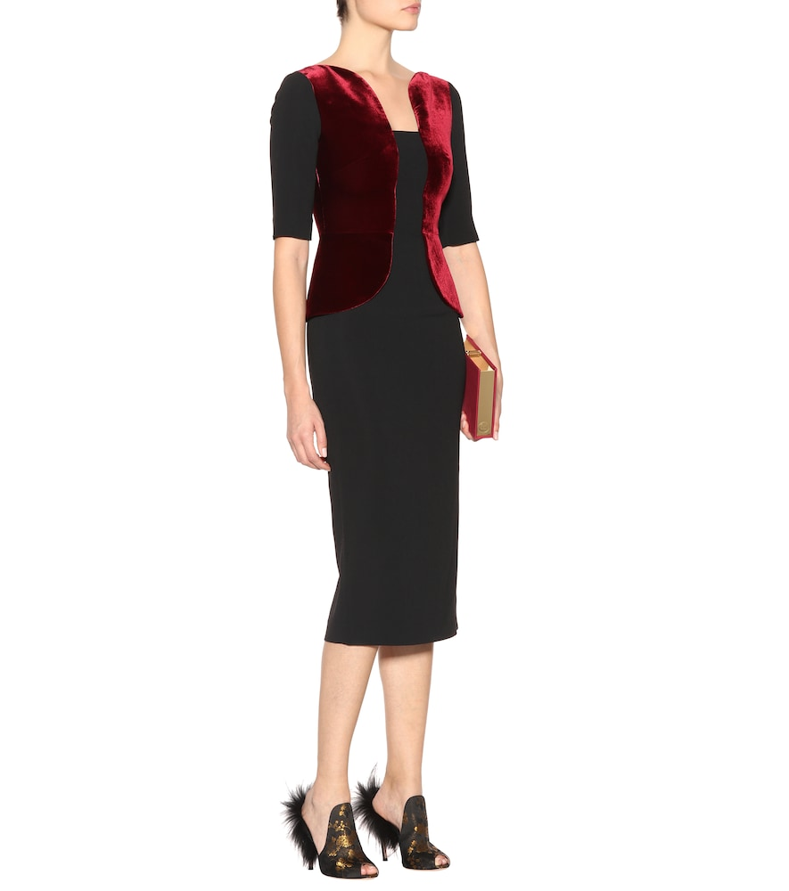 Exclusive to mytheresa.com - Comberton velvet and crêpe dress by Roland Mouret