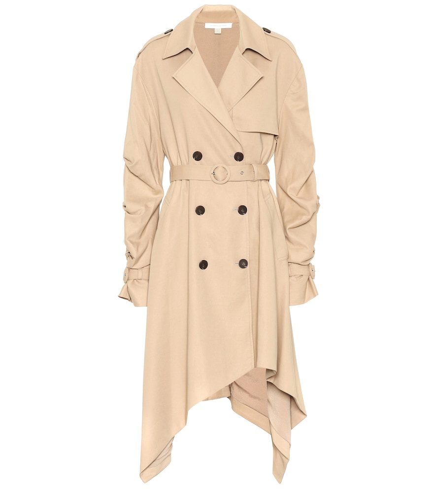 DRAPED COTTON TRENCH COAT