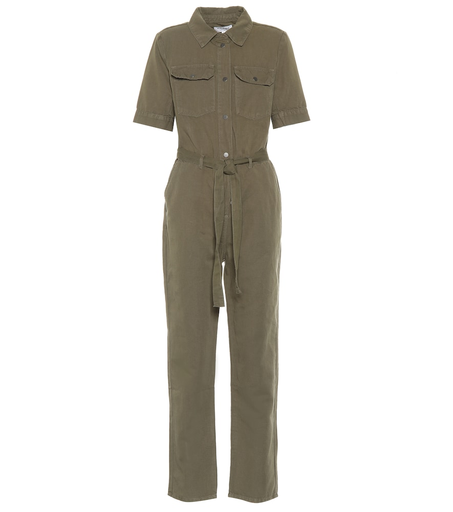 Frame Suits Belted cotton and linen jumpsuit