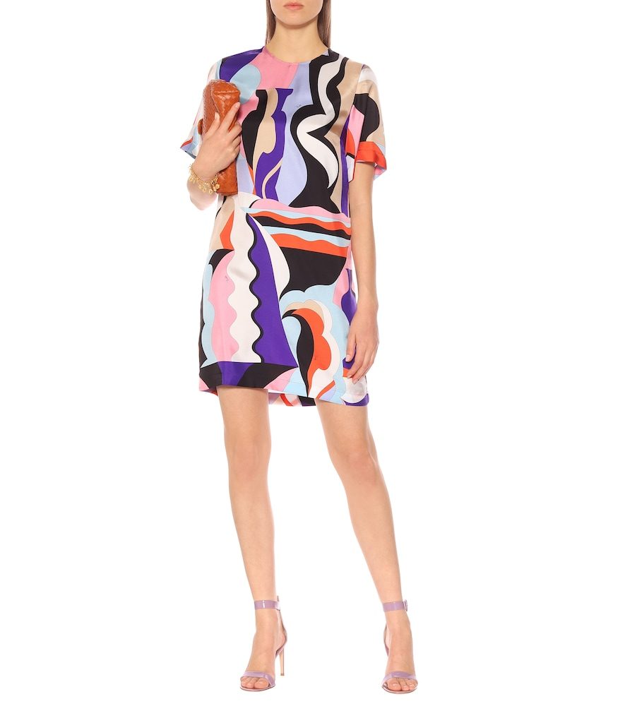 Printed silk-twill minidress by Emilio Pucci