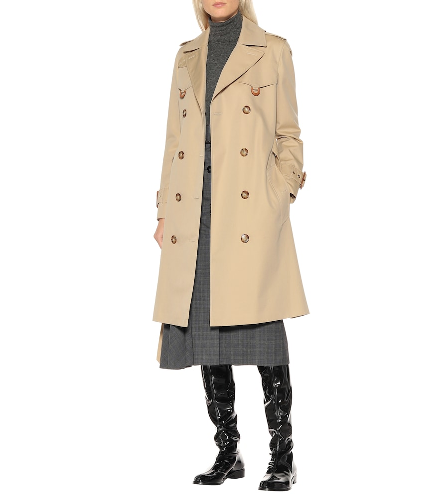 Lowland vinyl over-the-knee boots by Stuart Weitzman