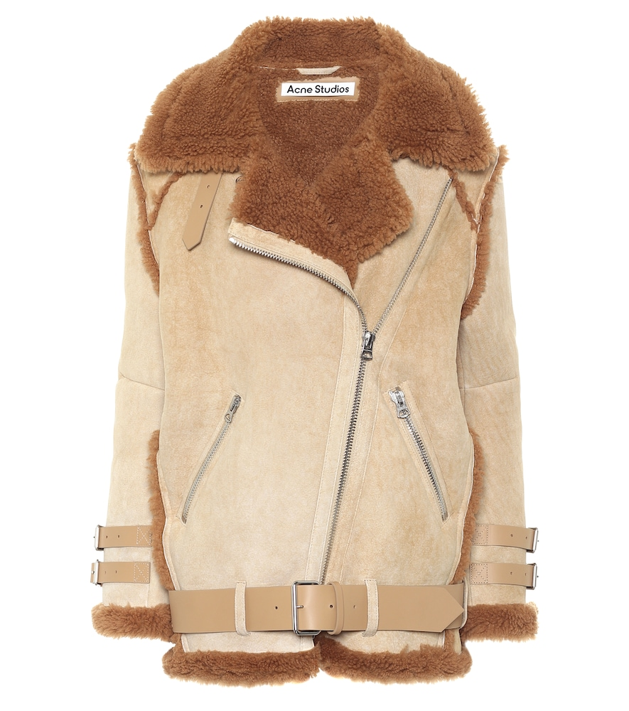 Shearling and suede jacket by Acne Studios
