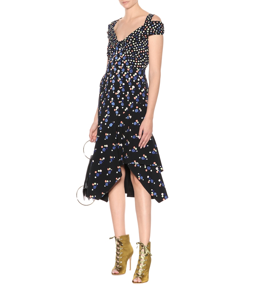 Cold-shoulder cady midi dress by Peter Pilotto