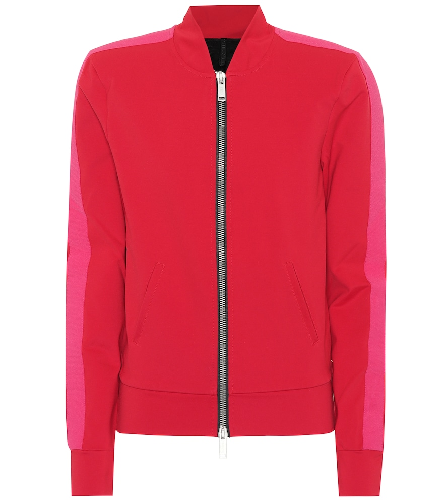 UNRAVEL Jersey Track Jacket in Red