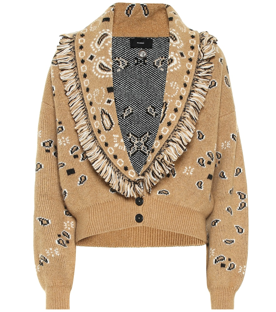 Alanui CROPPED CASHMERE AND WOOL CARDIGAN