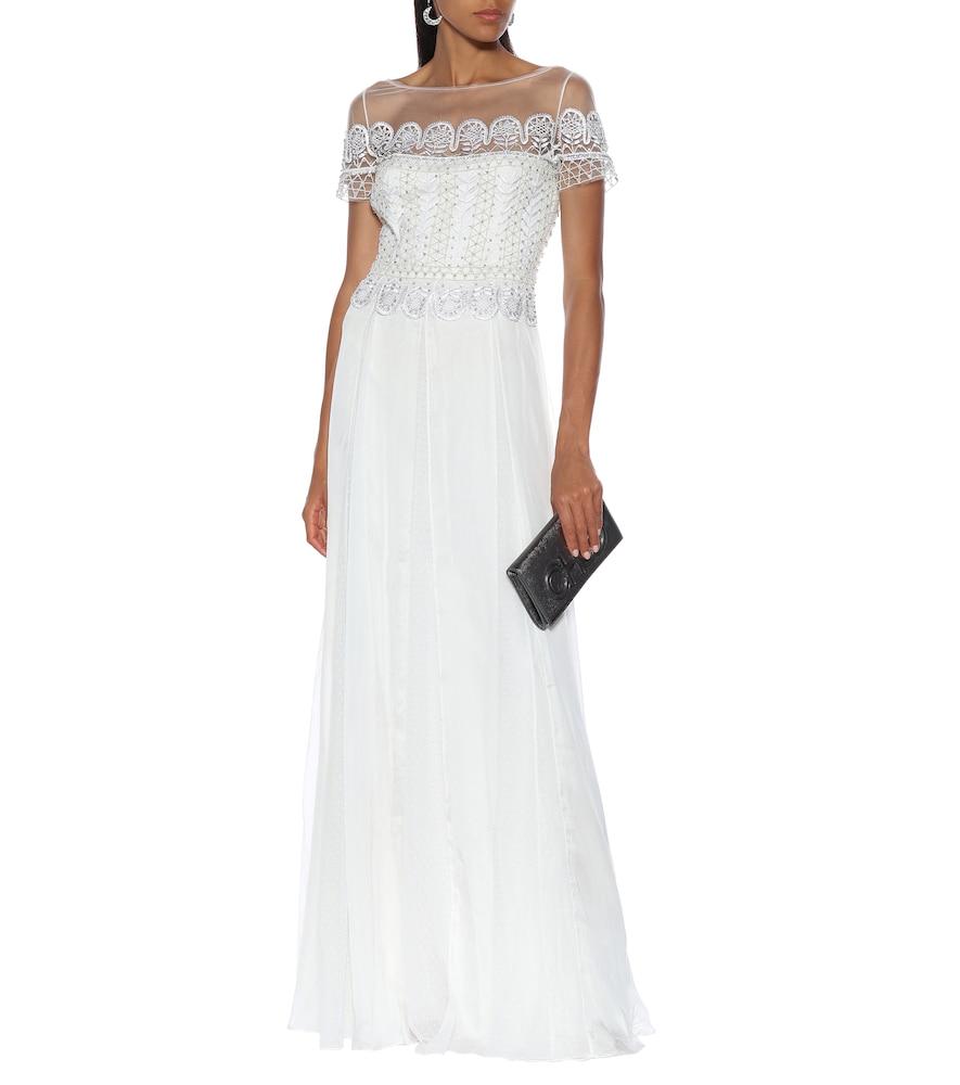 Sophia embellished silk bridal gown by Temperley London