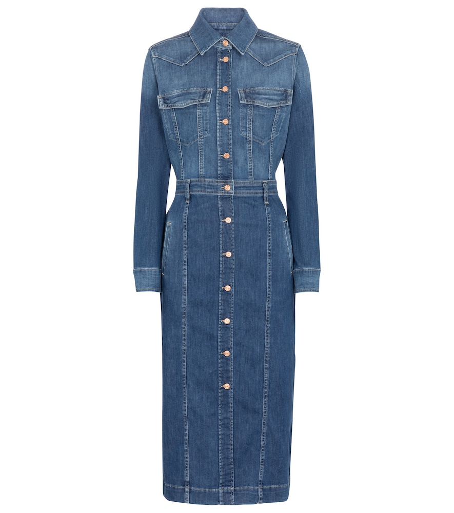 7 For All Mankind LUXE DENIM SHIRT DRESS