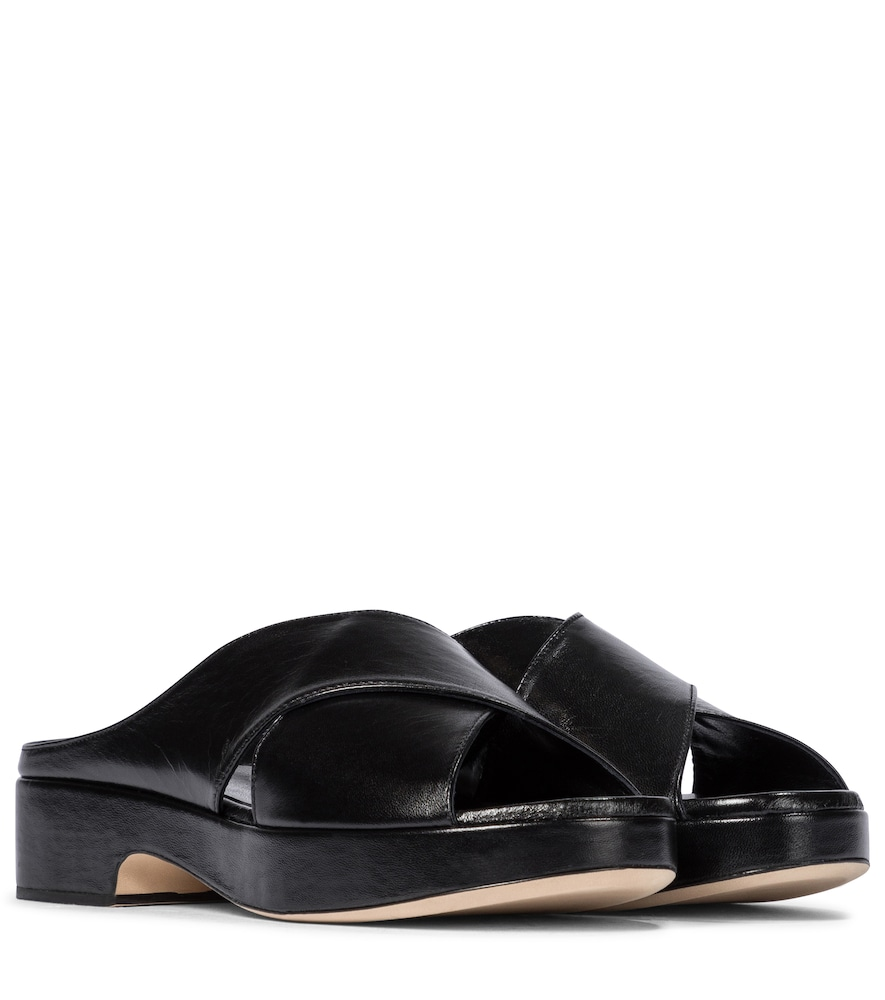 By Far IGGY LEATHER PLATFORM SANDALS