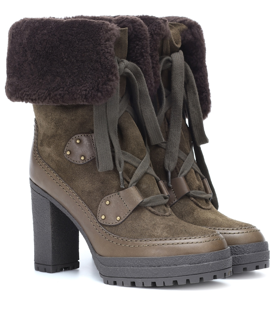 CLAUDIA SUEDE ANKLE BOOTS