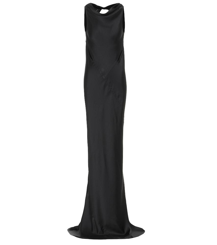 Skorpio hammered-satin gown by Rick Owens