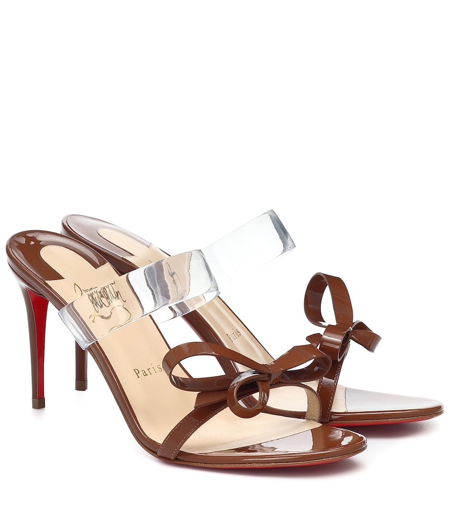 Just Nodo 85 PVC and patent leather sandals