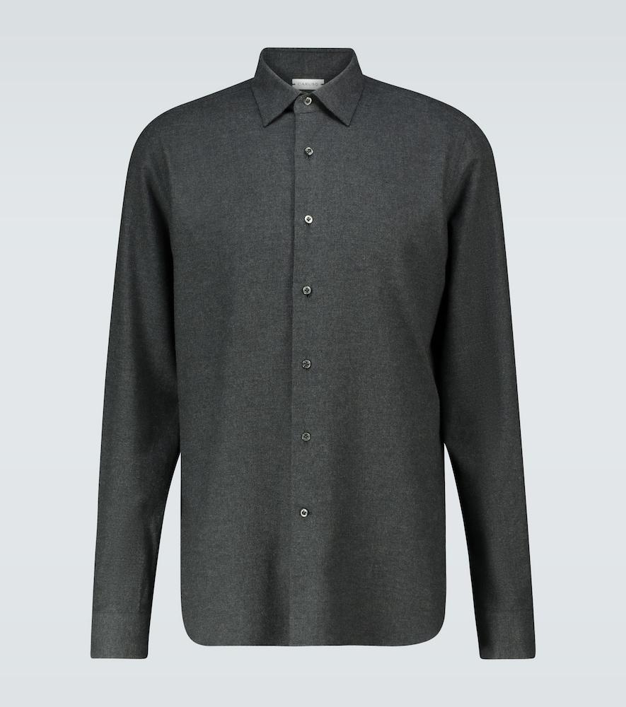 Slim-fit long-sleeved shirt