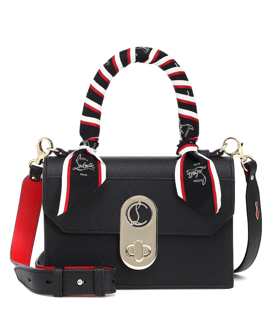 Christian Louboutin Elisa Small Leather Tote In Black