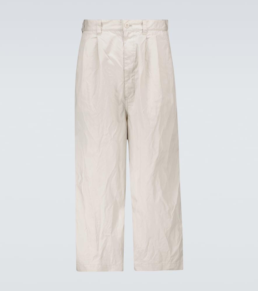 Cotton wide-leg pants