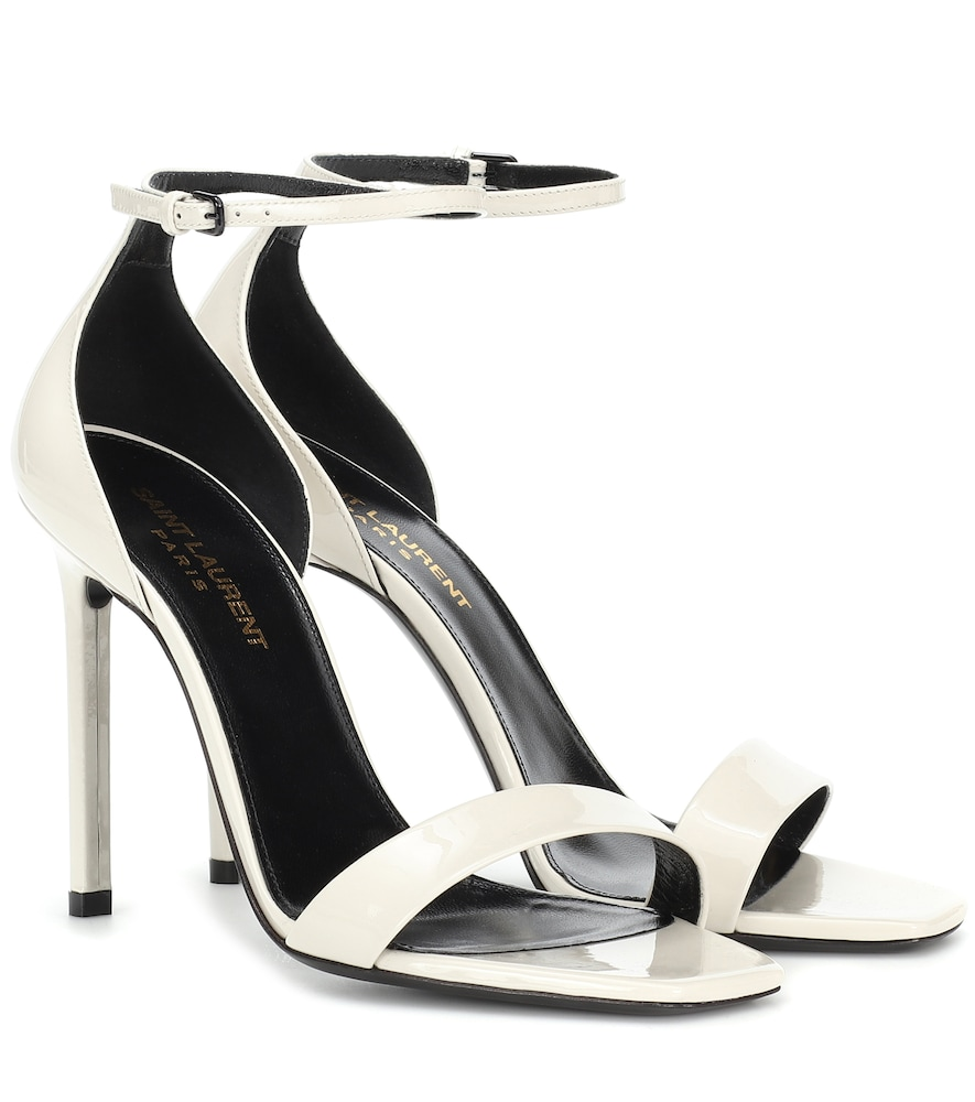 a0ef016b378d Saint Laurent Amber 105 Leather Sandals In White