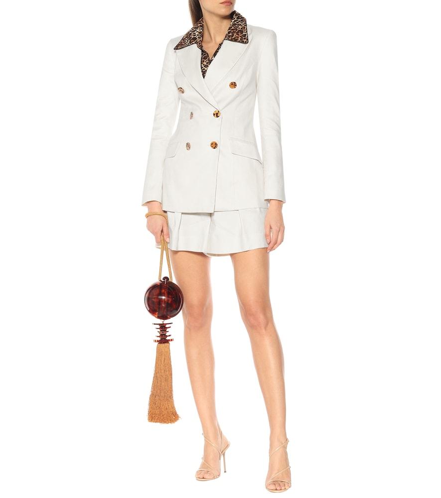 Taylor linen-blend blazer by Rebecca Vallance
