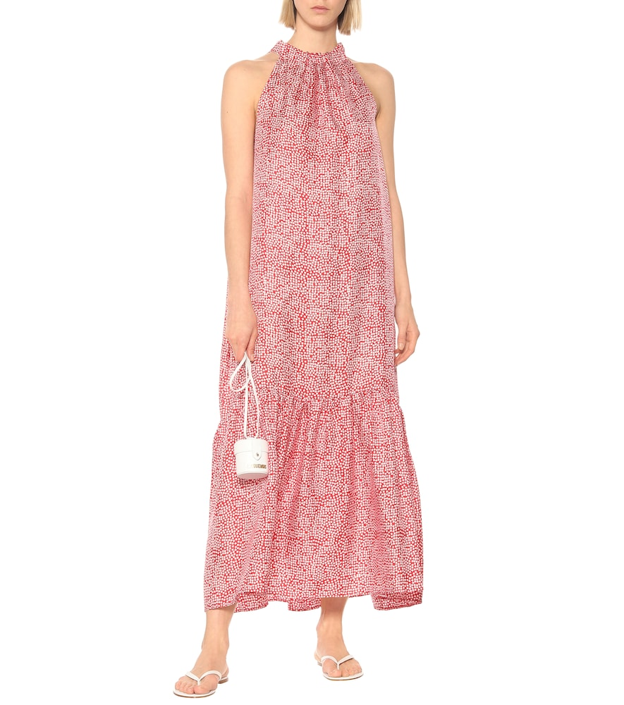 Ibiza printed silk halterneck maxi dress by Asceno