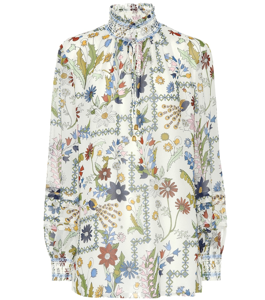 Haley Floral Silk Blouse in Multicoloured