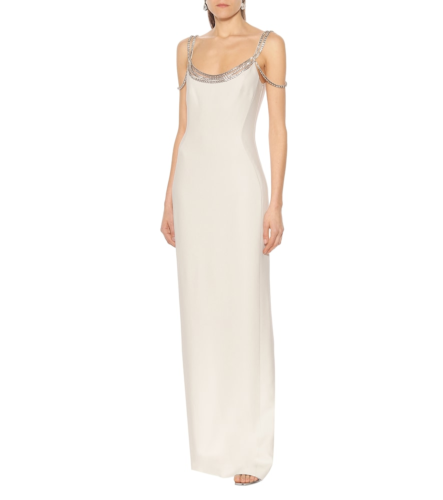 Ayla crystal-embellished cr?e gown by Stella McCartney