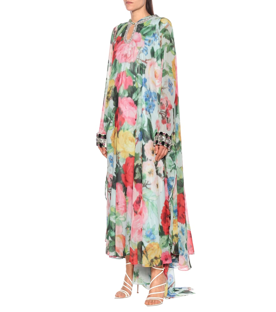 Embellished floral chiffon gown by Richard Quinn