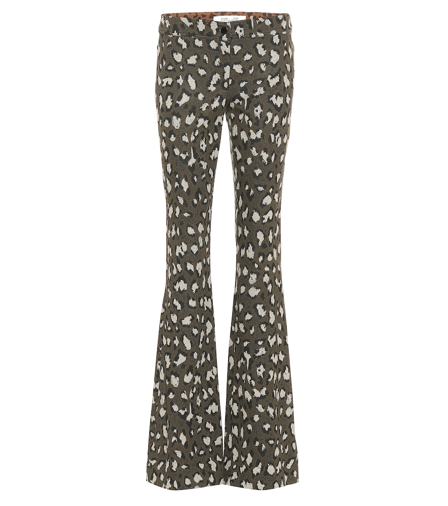 LEOPARD-PRINT LOW-RISE FLARED PANTS from Mytheresa