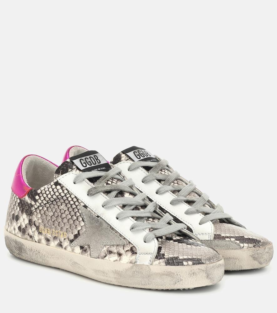 Superstar snake-effect sneakers