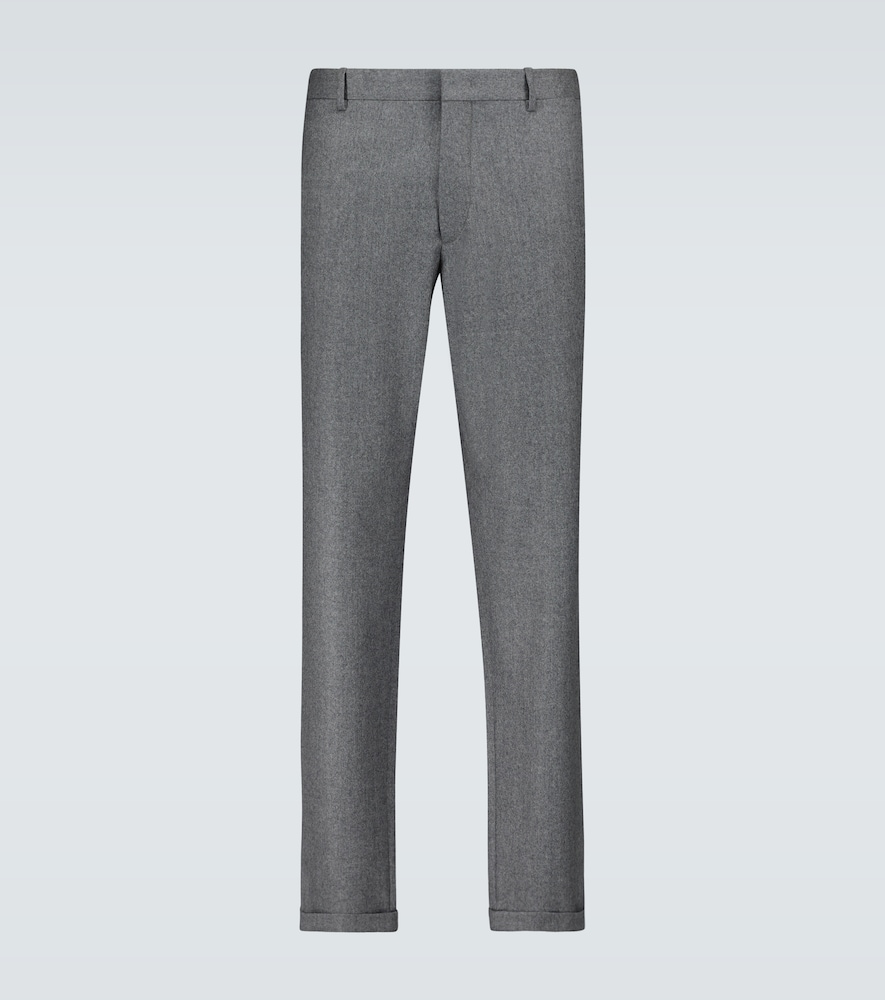 Regular-fit wool pants