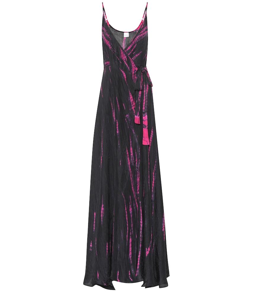 Robe longue Cami en soie imprimée