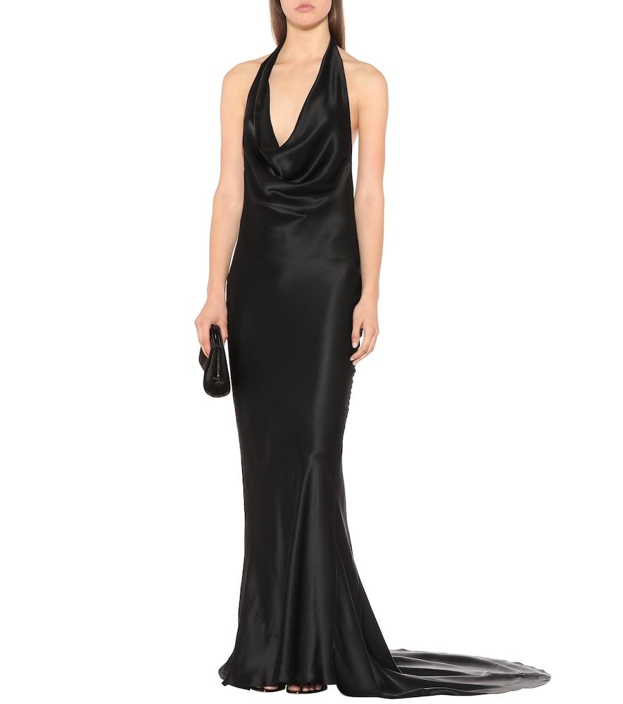 Silk satin halter gown by Stella McCartney