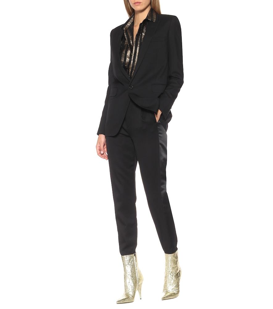 Kiki 100 metallic ankle boots by Saint Laurent