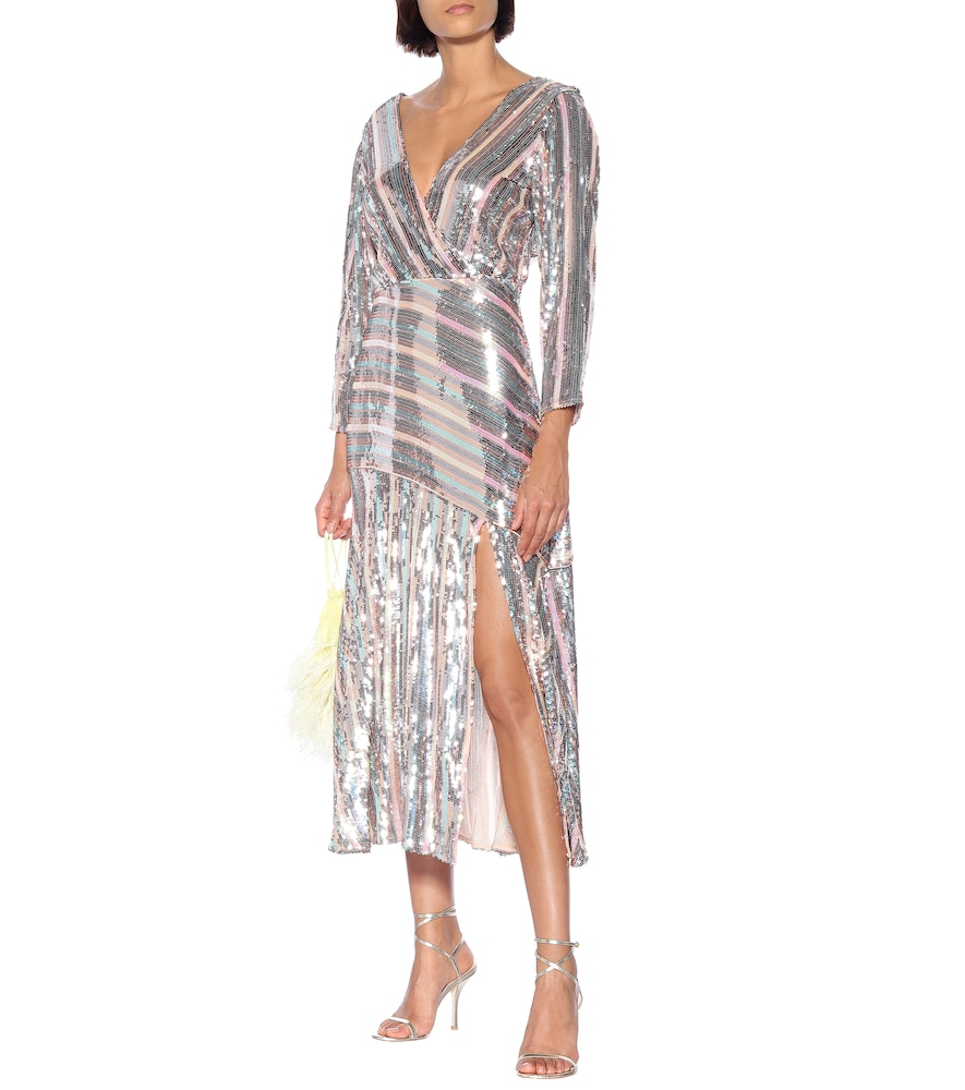 Tyra sequined wrap dress by Rixo