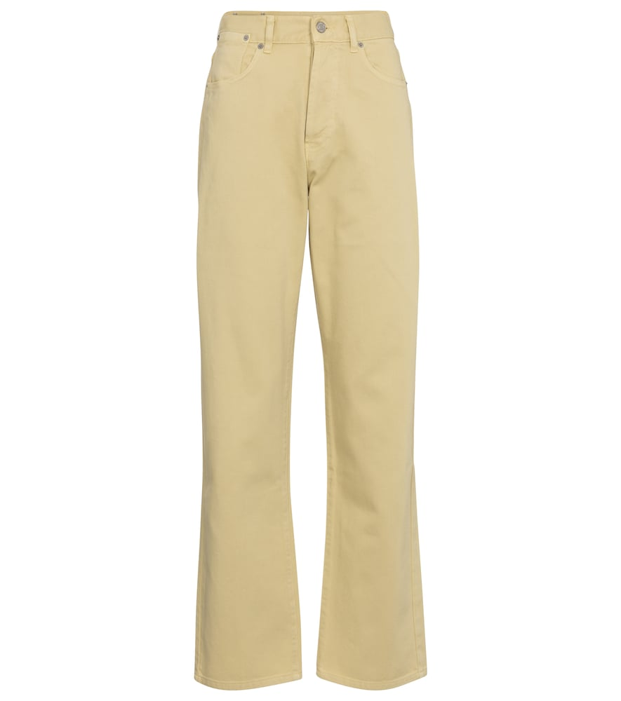 Dries Van Noten Mid-rise Straight Jeans In Yellow