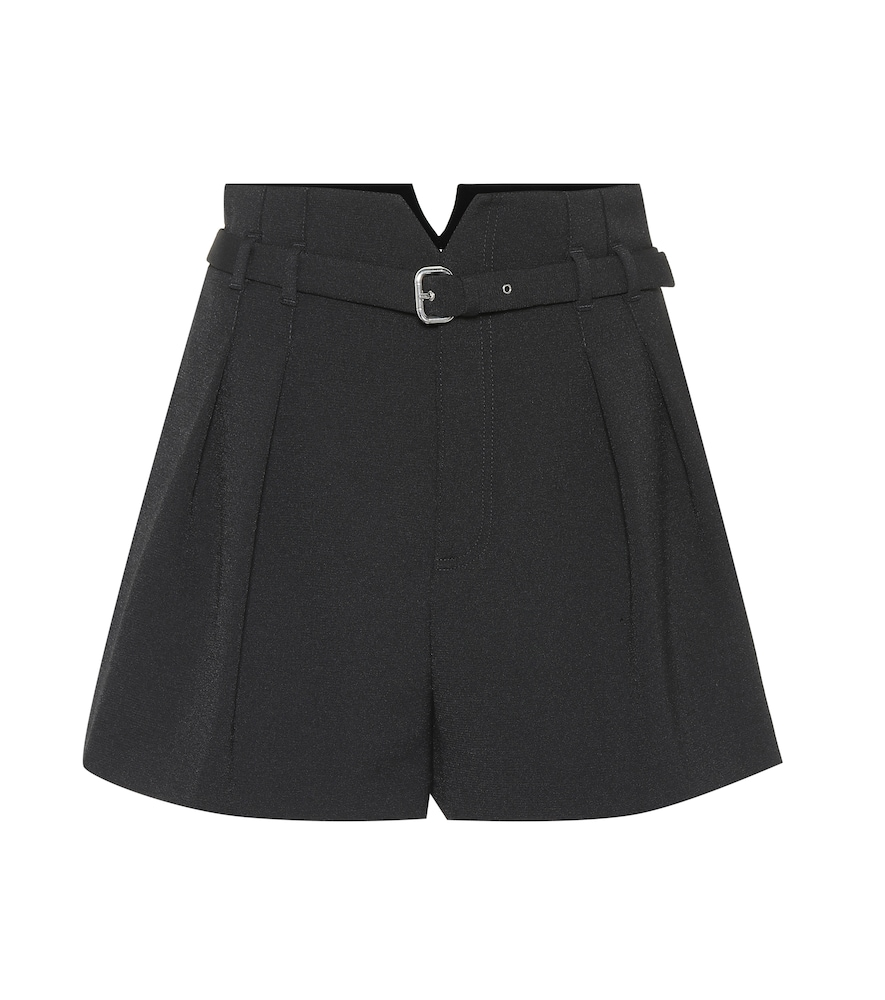 Pleated Wide Leg Shorts in Black