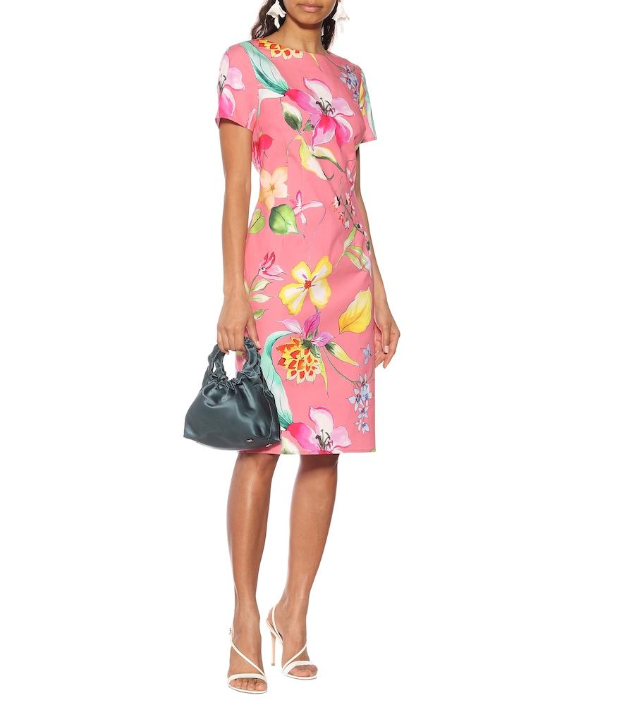 Floral stretch-cotton dress by Carolina Herrera