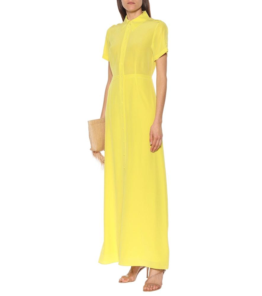 Georgia silk-crêpe maxi shirt dress by Diane von Furstenberg
