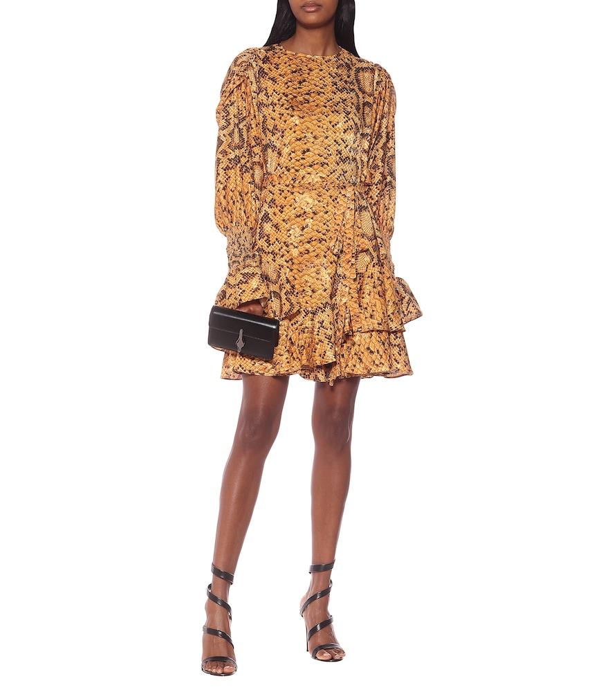 Lupita snake-print dress by Preen by Thornton Bregazzi