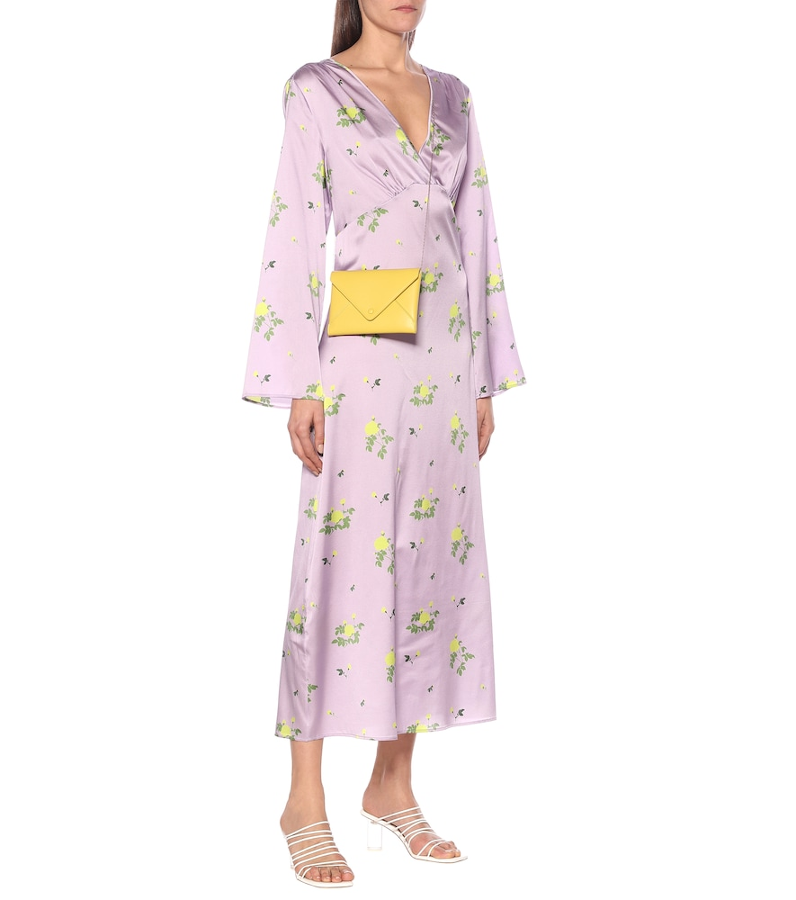 Sarah floral stretch-silk maxi dress by Bernadette
