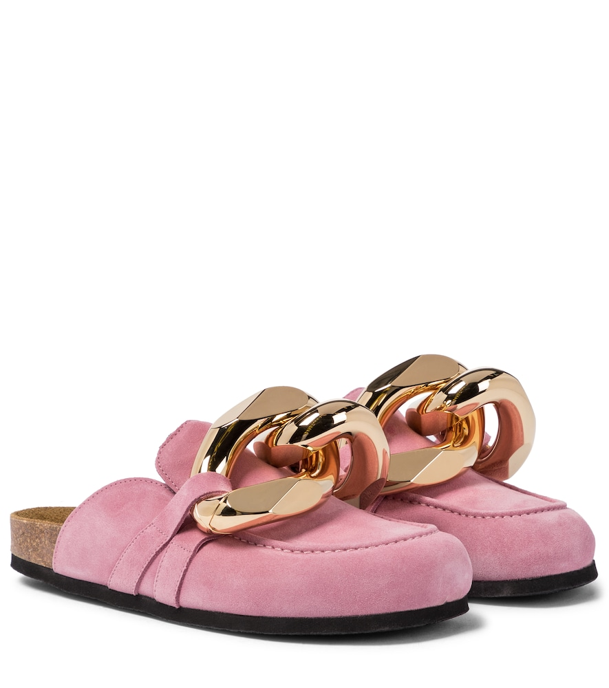 Jw Anderson EMBELLISHED SUEDE SLIPPERS