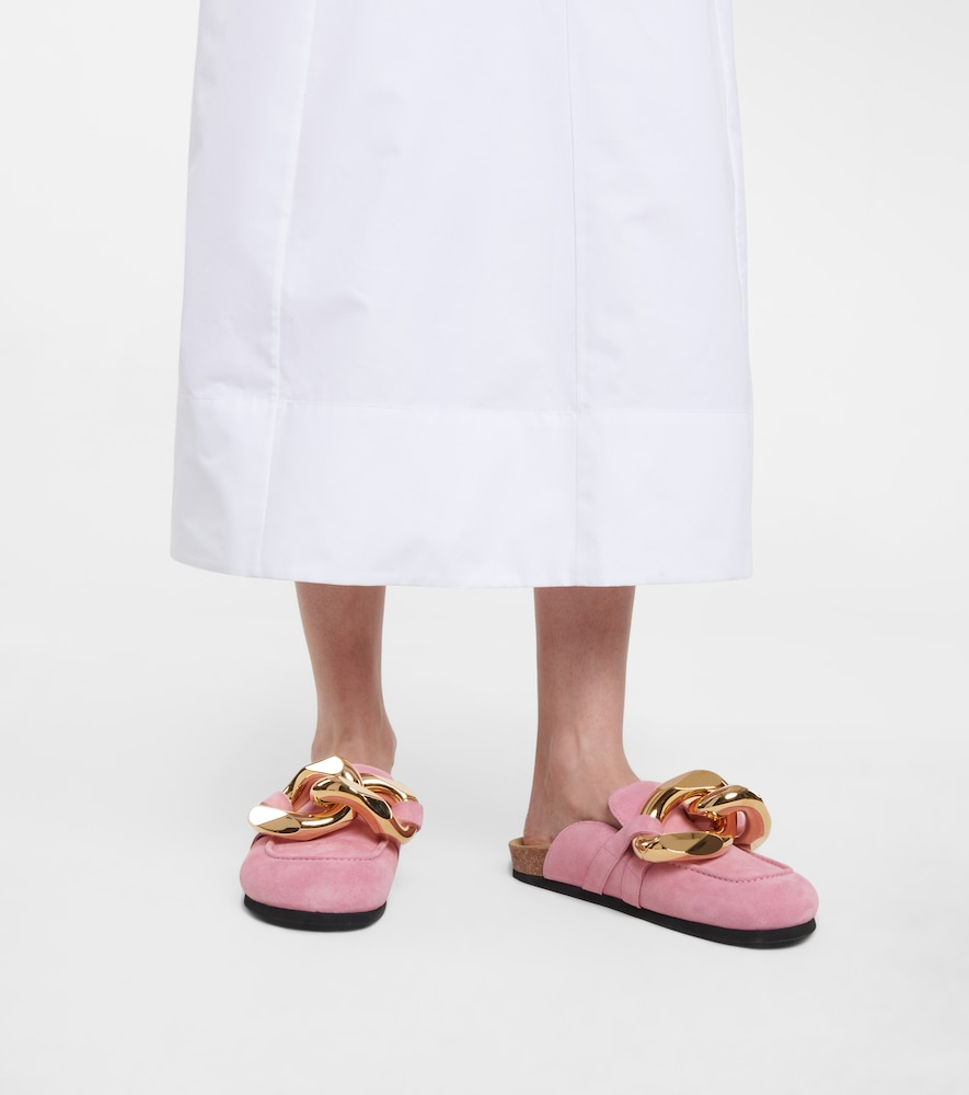 JW ANDERSON Suedes EMBELLISHED SUEDE SLIPPERS