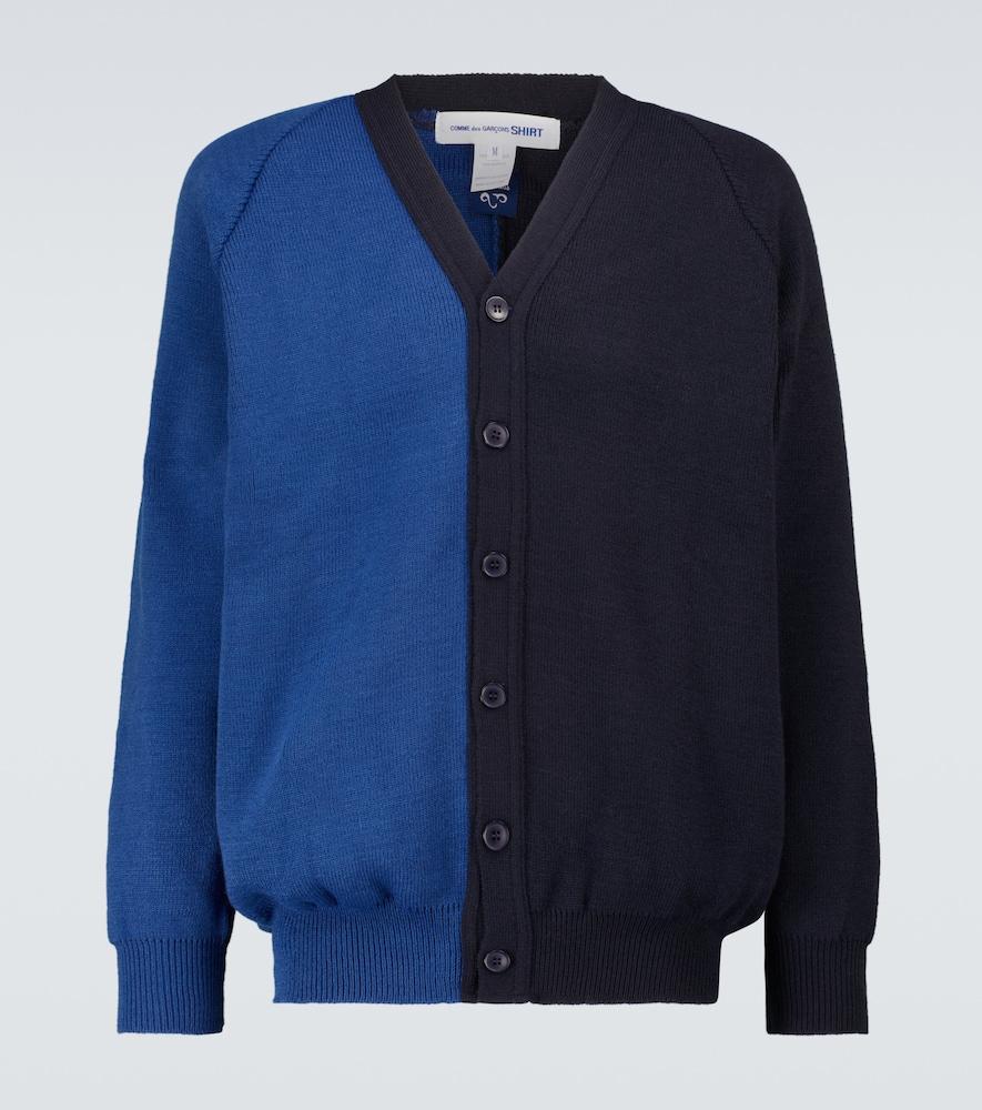 Colorblocked cardigan