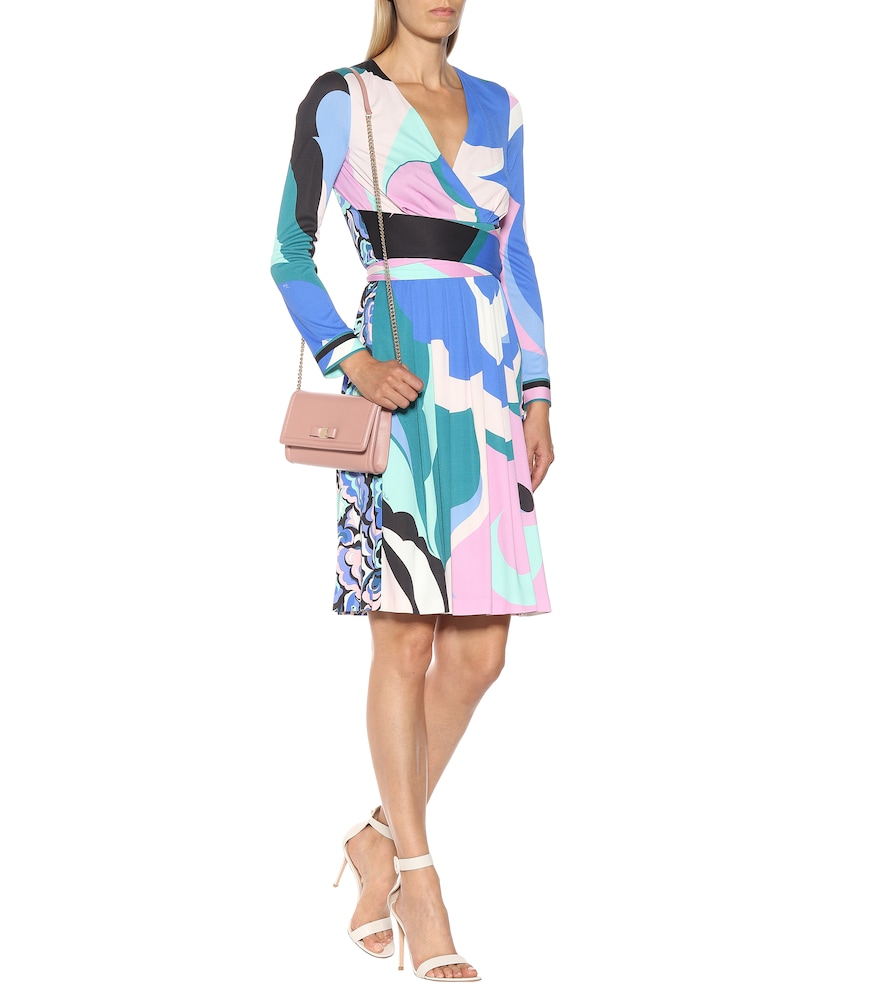 Printed silk-blend dress by Emilio Pucci