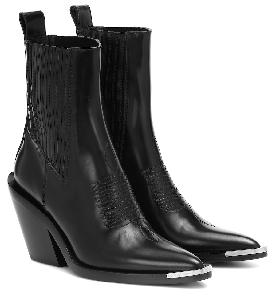 Paco Rabanne Boots LEATHER ANKLE BOOTS