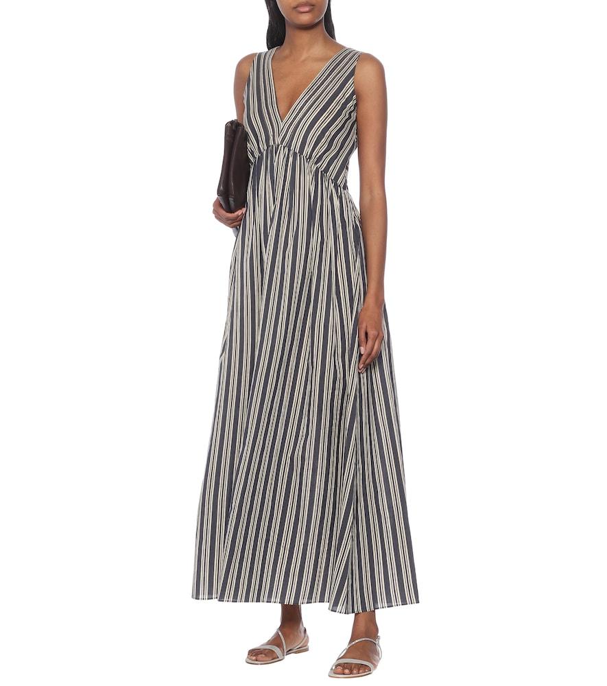 Striped cotton and silk dress by Brunello Cucinelli