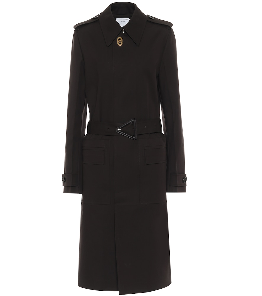 Stretch-cotton gabardine trench coat